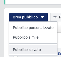 crea pubblico per campagne remarketing facebook