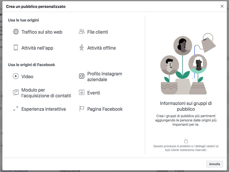 inserzioni video pubblico personalizzato facebook
